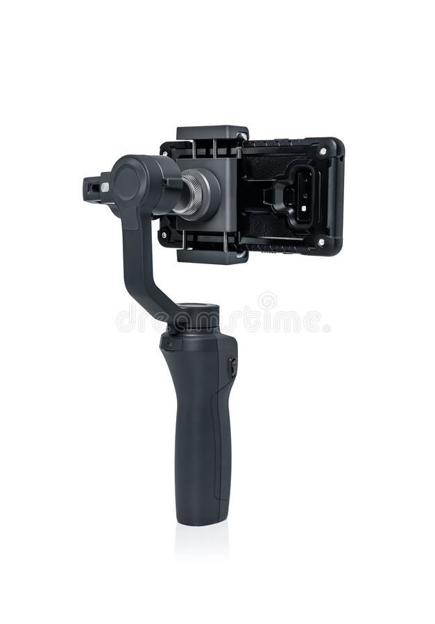 Smartphone gimbal stabilizator zdjęcie stock