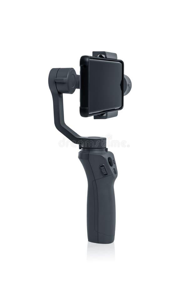 Smartphone gimbal stabilizator obrazy stock