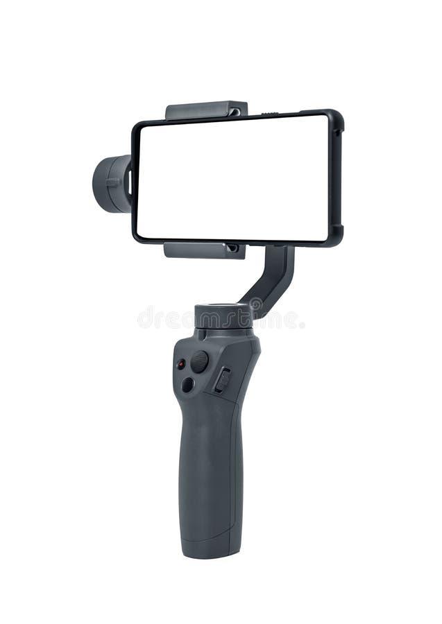 Smartphone gimbal stabilizator zdjęcia royalty free
