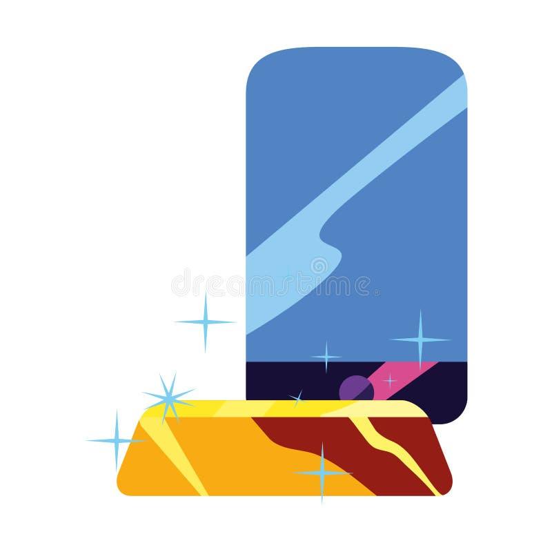 Smartphone guldstång vektor illustrationer