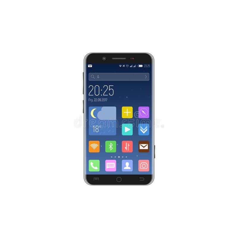 Smartphone ha sbloccato con i apps illustrazione di stock