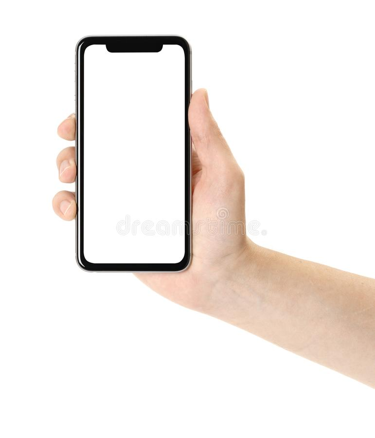 smartphone in hand stock photo image of business hand 126437000