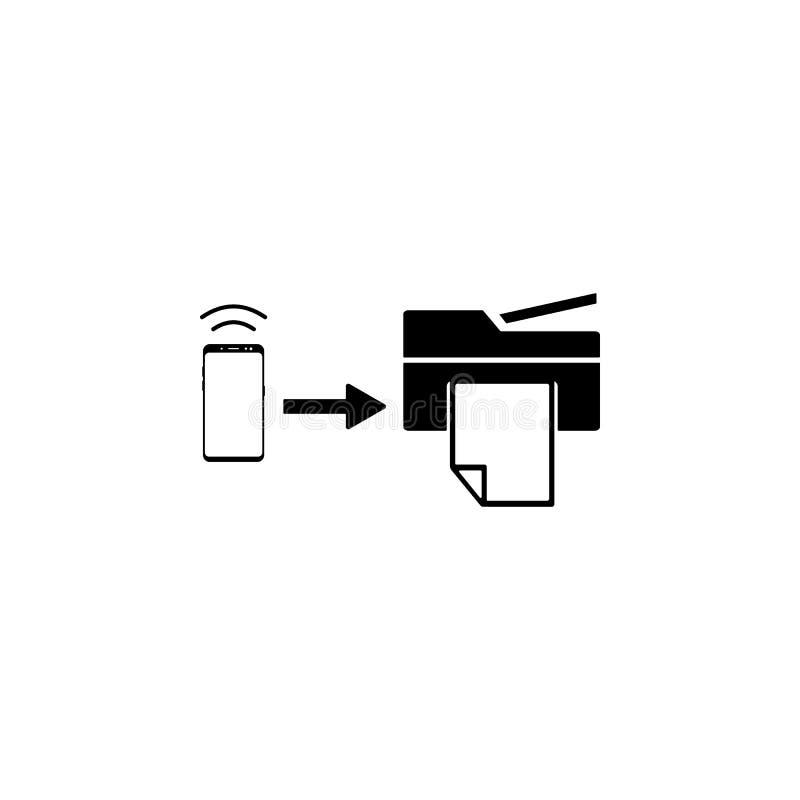 smartphone, het vectorpictogram van de synchronisatieprinter voor websites en mobiel minimalistic vlak ontwerp stock illustratie