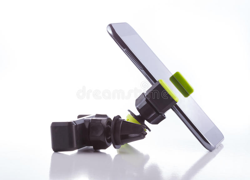 Smartphone holder, accessory. Holder and accessories for mobile and smartphones stock images