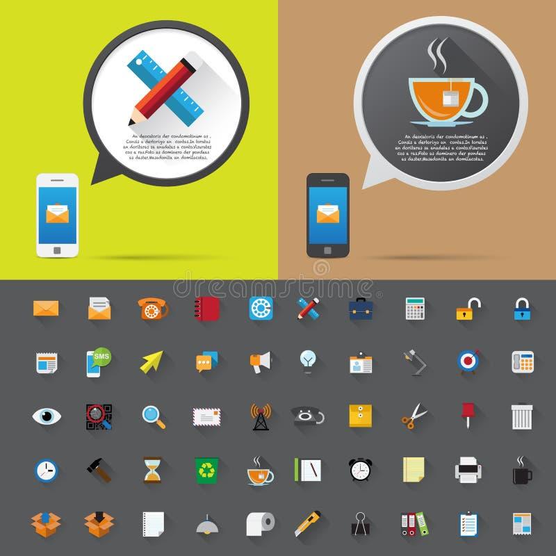 Smartphone i bąbel rozmowy wiadomość. ilustracja wektor