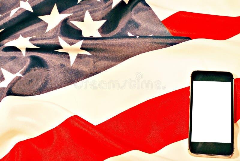 Smartphone i My chorągwiani zdjęcie stock