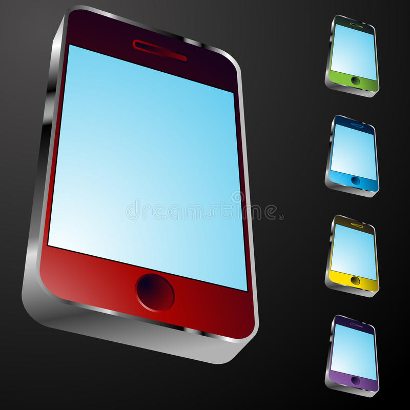 Download Smartphone Icon stock vector. Illustration of blank, graphic - 16370010