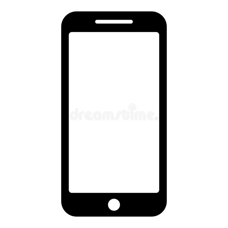 Smartphone icon black color vector illustration flat style image vector illustration