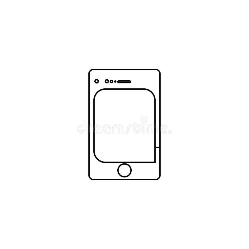 Smartphone icon. Mobile device button vector illustration