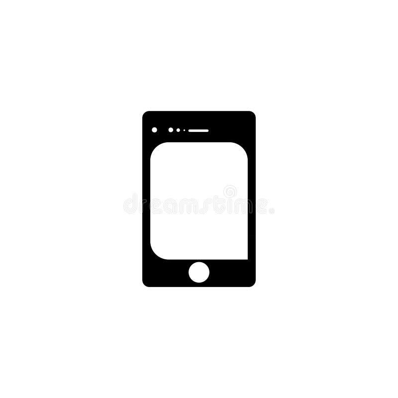 Smartphone icon. Mobile device button stock illustration