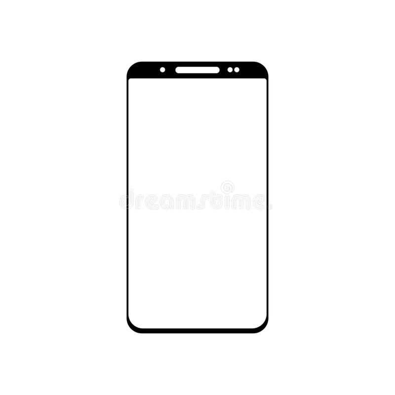 Smartphone icon vector, mobile Illustration. Isolated on white background stock illustration