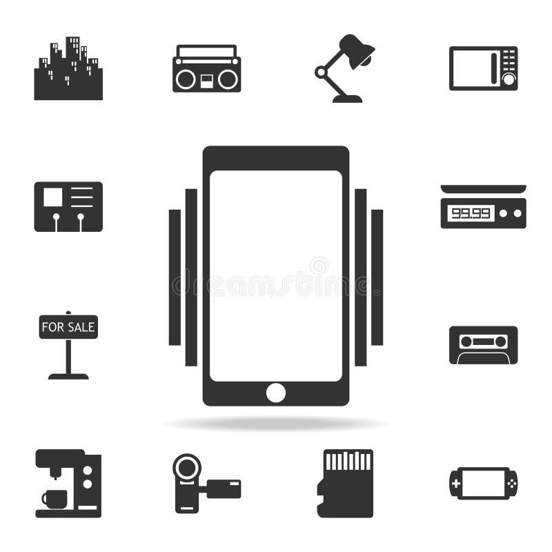 Smartphone/icono de sonido o vibrante del teléfono móvil Sistema detallado de iconos del web Diseño gráfico de la calidad superio libre illustration