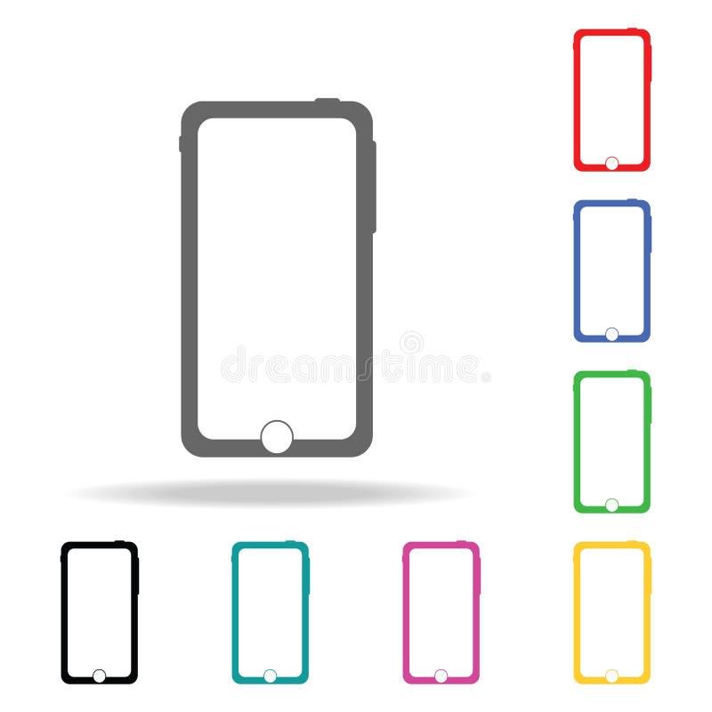 Smartphone ikona Elementy w wielo- barwionych ikonach dla mobilnych pojęcia i sieci apps Ikony dla strona internetowa projekta i  ilustracja wektor