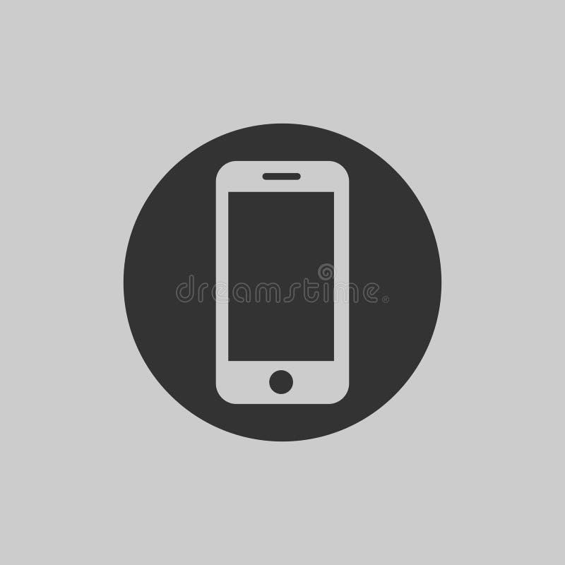 Smartphone ikona w płaskim projekcie na szarym tle Telefon sieci ikona 10 eps ilustracyjny osłony wektor ilustracji