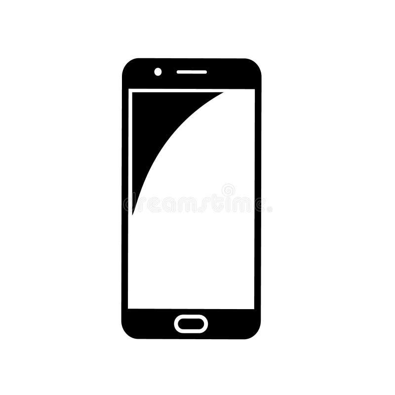 Smartphone ikona, wektor odizolowywający mieszkanie stylu symbol zdjęcia royalty free