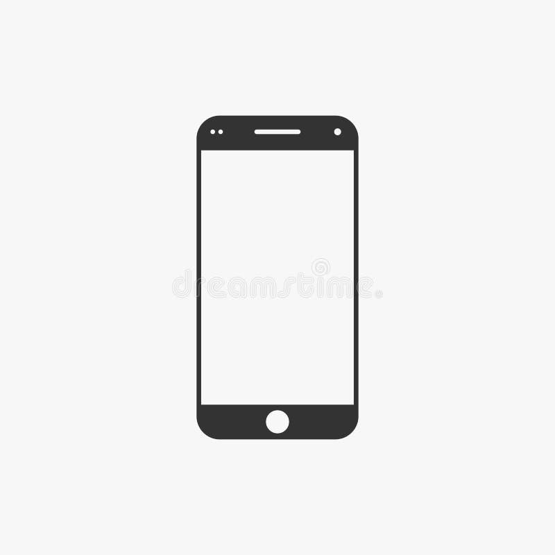 Smartphone ikona, wisząca ozdoba, telefon, kontakt royalty ilustracja
