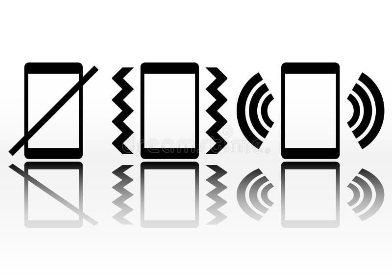 Smartphone ikona z symbolu dźwięka statusem ilustracja wektor