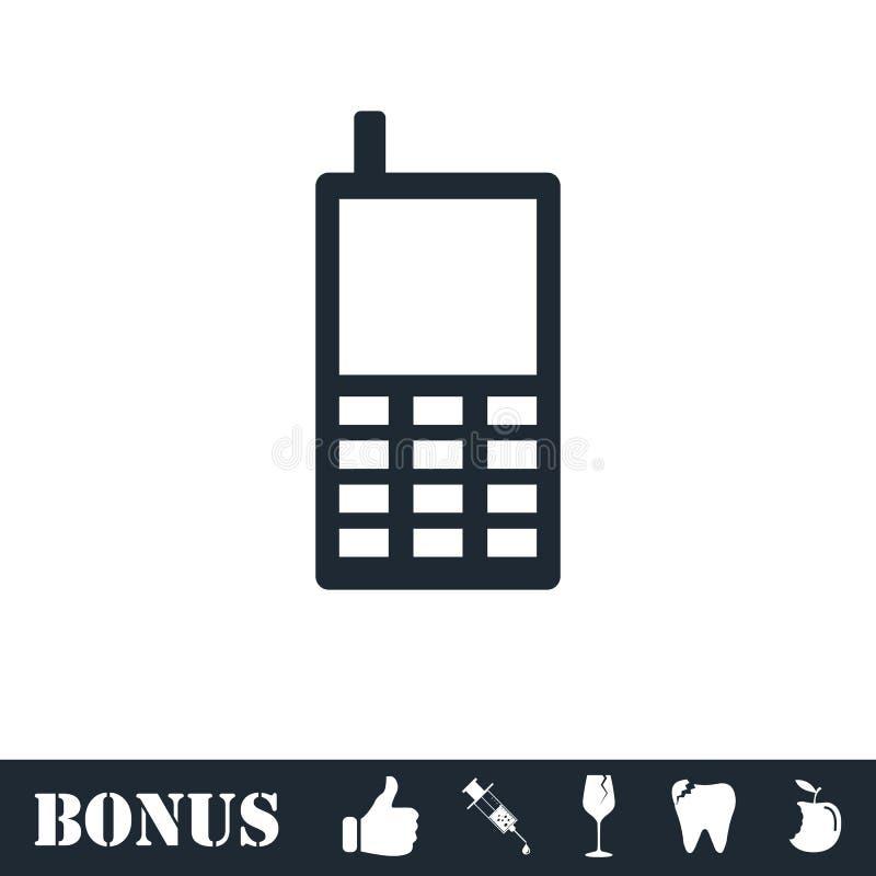 Smartphone ikony mieszkanie ilustracja wektor