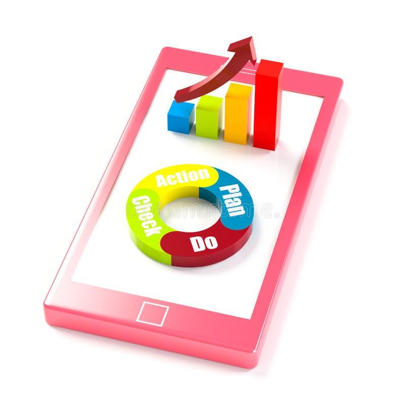 Smartphone stock illustrationer