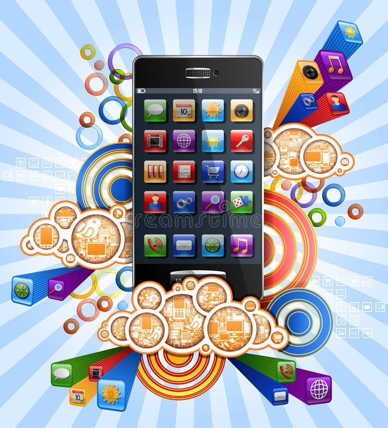 Download Smartphone stock vector. Image of computer, cellphone - 30598010