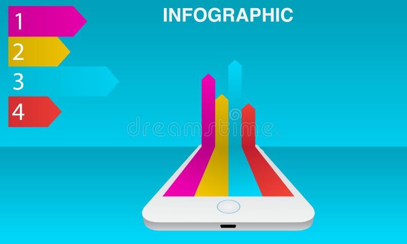Smartphone infographic images libres de droits