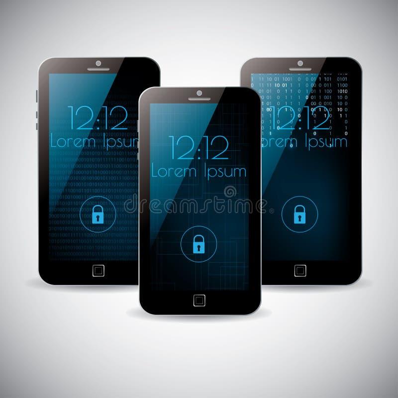 Smartphone interfejsu tła tematów wektorowy projekt royalty ilustracja