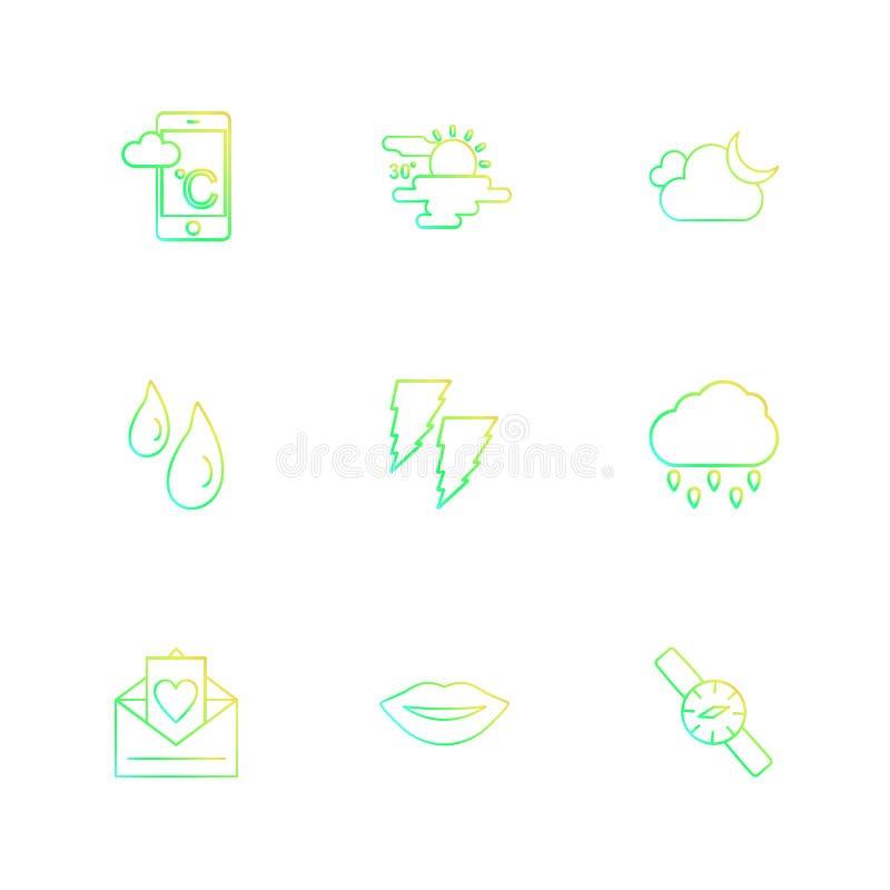smartphone, Internet, portátil, ajuste, ecologia, eco, ícone ilustração royalty free