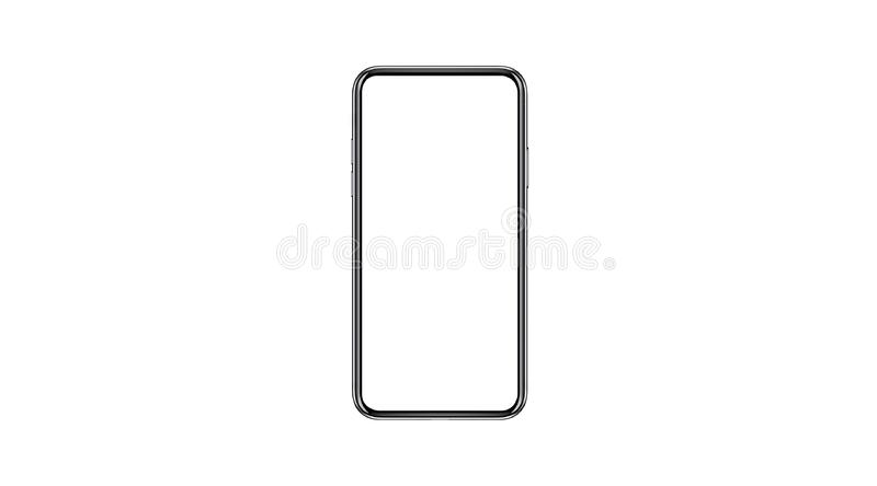 Smartphone isolated mockup with blank white screen for Infographic Global Business Marketing stock photo