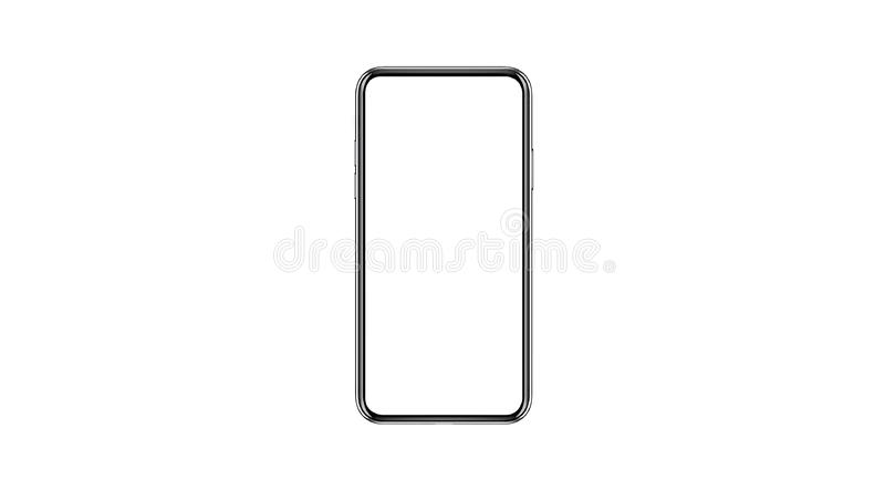 Smartphone isolated mockup with blank white screen for Infographic Global Business Marketing stock photos