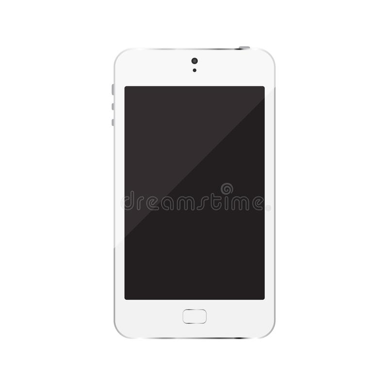 Smartphone isolated on white background. Is a general illustration stock illustration