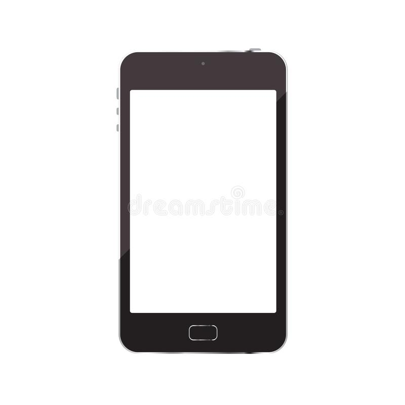 Smartphone isolated on white background. Is a general illustration vector illustration