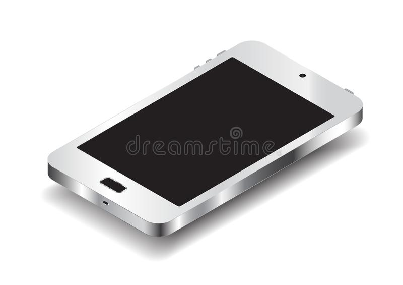 Smartphone isolated on white background. Is a general illustration royalty free illustration