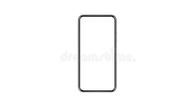 Smartphone isolerade modellen med den tomma vita skärmen för marknadsföring Infographic för den globala affären royaltyfria bilder
