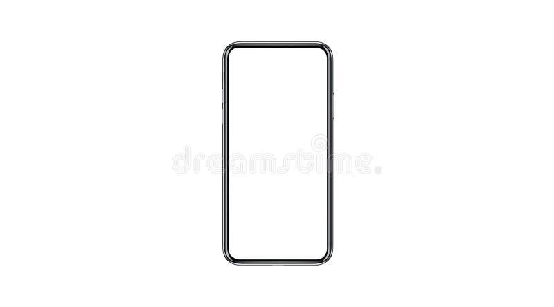 Smartphone isolerade modellen med den tomma vita skärmen för marknadsföring Infographic för den globala affären arkivfoto