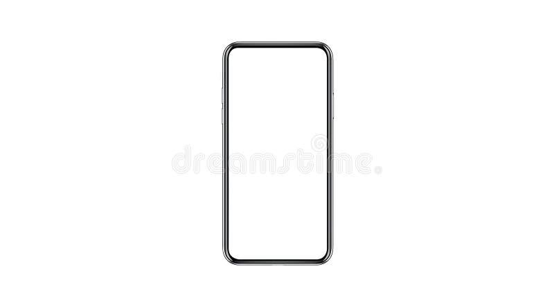 Smartphone isolerade modellen med den tomma vita skärmen för marknadsföring Infographic för den globala affären arkivfoton