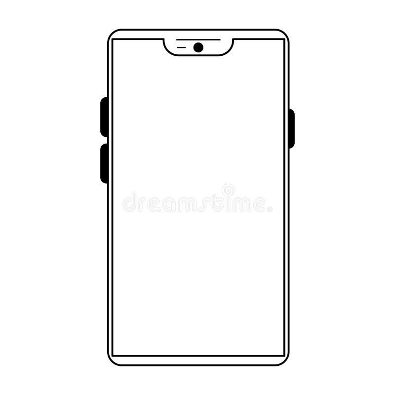 Smartphone komunikaci mobilnej technologia ilustracja wektor