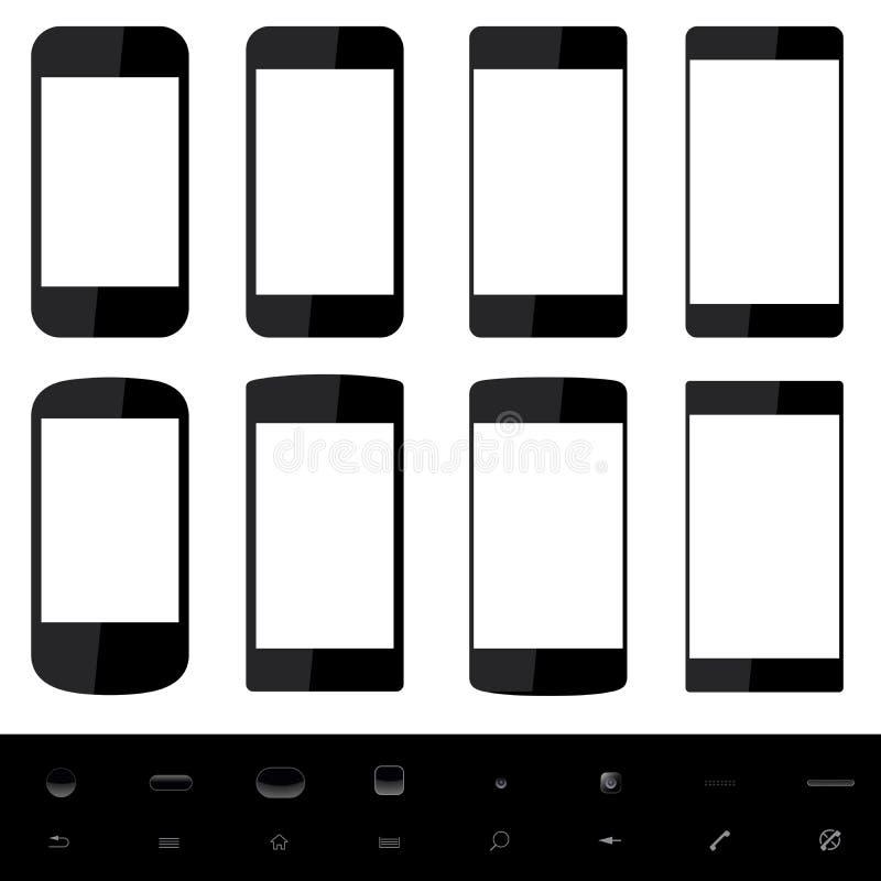 Smartphone kształty royalty ilustracja