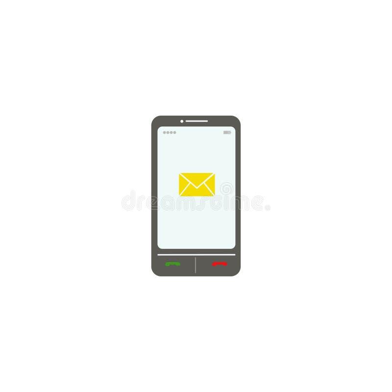 Smartphone La busta SMS Illustrazione di vettore ENV 10 illustrazione vettoriale