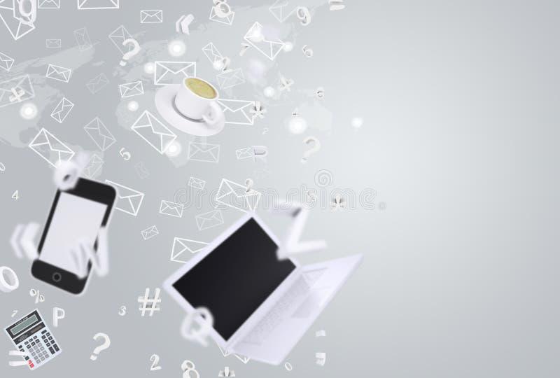 smartphone lap-top απεικόνιση αποθεμάτων