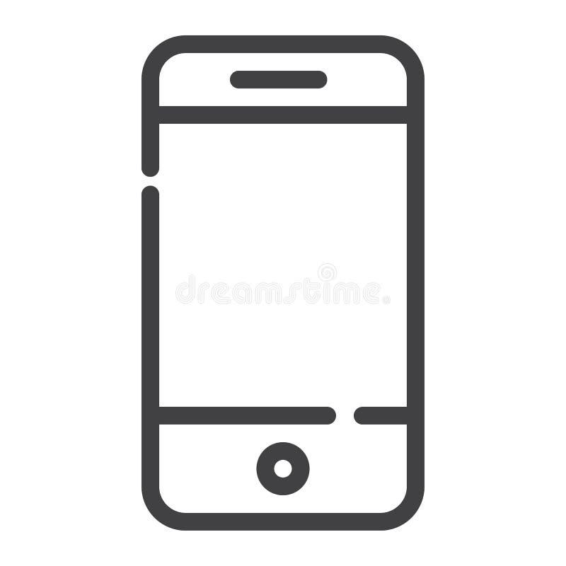 Smartphone linii ikona ilustracja wektor