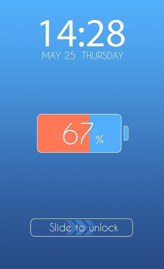 Smartphone lock screen stock photos