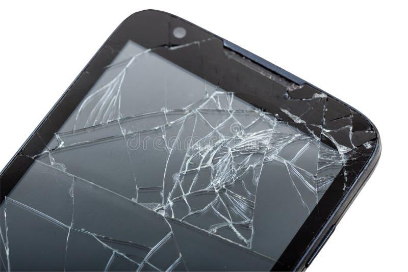 Smartphone móvel com tela quebrada imagens de stock royalty free