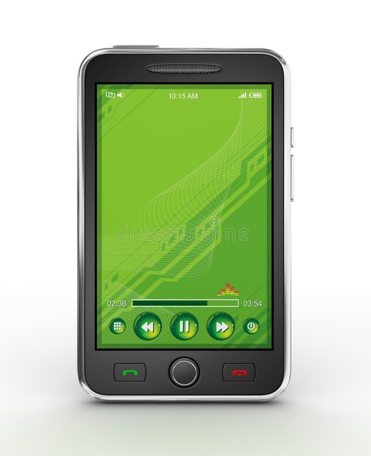 Smartphone móvel preto - 3d rendem ilustração royalty free