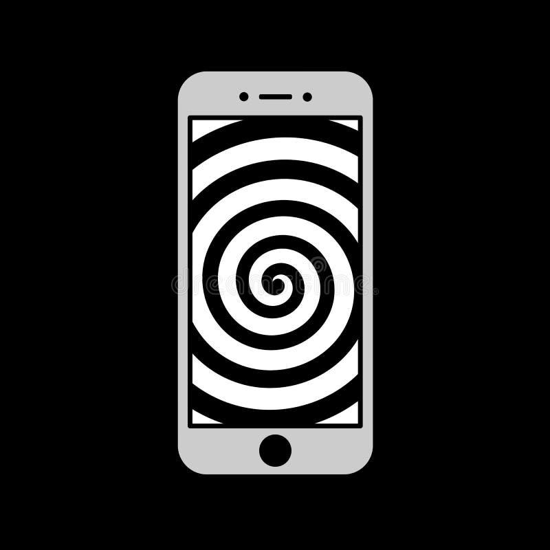 Smartphone macht Benutzer stumm vektor abbildung