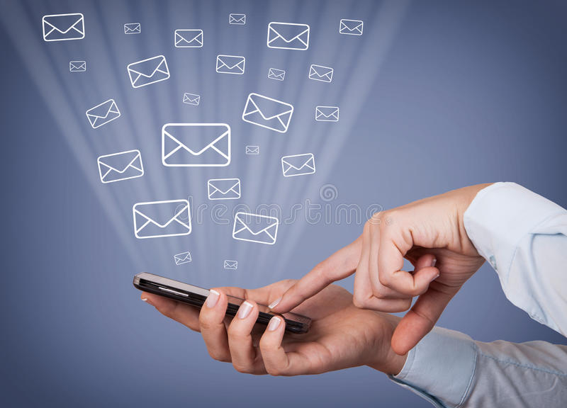 Smartphone Mail royalty free stock images