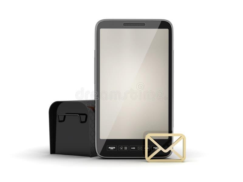 Download Smartphone, Mailbox And Shape Of Envelope Stock Illustration - Illustration: 37845289
