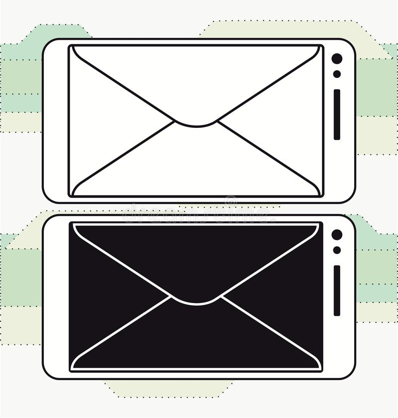 Smartphone mailing Message icon vector. Template royalty free illustration