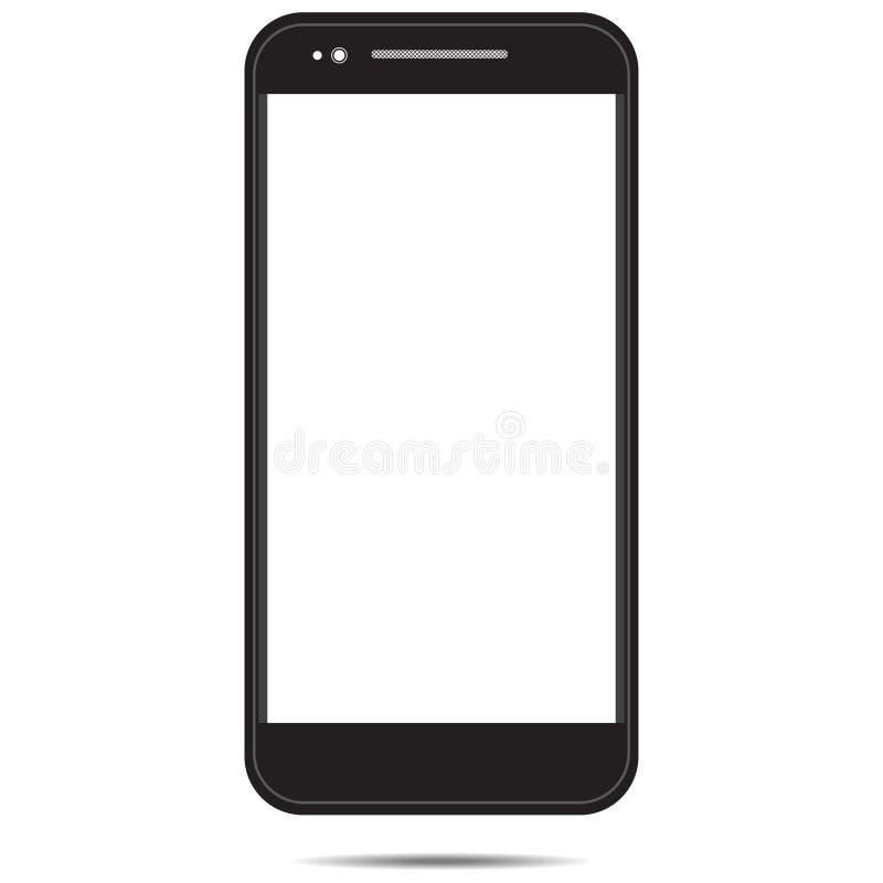 Smartphone-malplaatje zwart wit dat in wit achtergrond-01 wordt geïsoleerd royalty-vrije illustratie