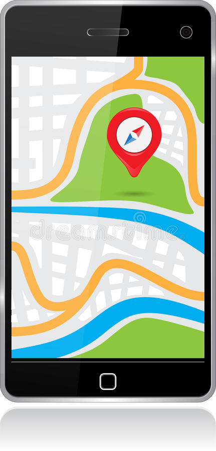 Free Smartphone Map Stock Images - 38859854