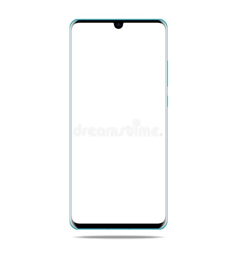 Smartphone med den tomma pekskärmen, telefon - vektor arkivbild